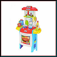 Кухня детская игровая со звуковыми и световыми эффектами WD-B22 и набором посуды