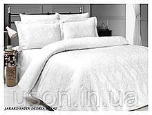 Комплект  постельного белья сатин жаккард TM LaRomano Dedria Beyaz