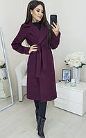 Женское кашемировое пальто длины миди