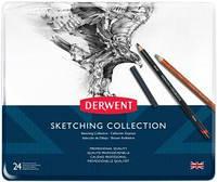 Набор материалов для графики Sketching Collection в мет.короб. 24 предм.(ассорти), Derwent