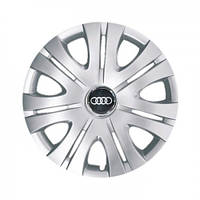 "Колпаки для колес 16"" c логотипом автомобиля 4 шт (SKS 408) Audi"
