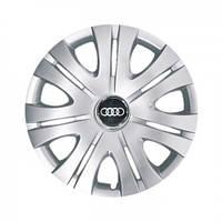 """Колпаки для колес 16"""" c логотипом автомобиля 4 шт (SKS 408) Ауди"""