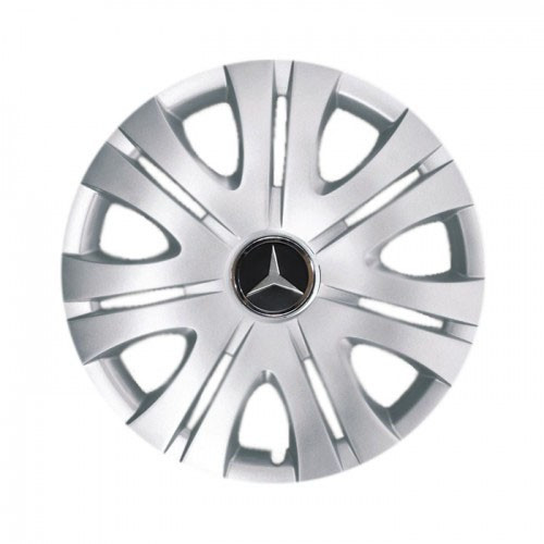 """Колпаки для колес 16"""" c логотипом автомобиля 4 шт (SKS 408) Мерседес"""