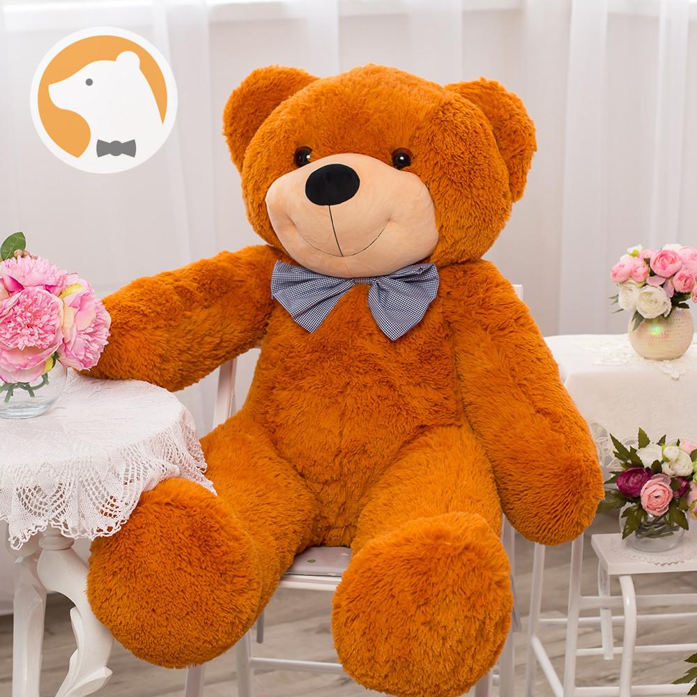 Большой плюшевый медведь Фокси, 120 см, медовый
