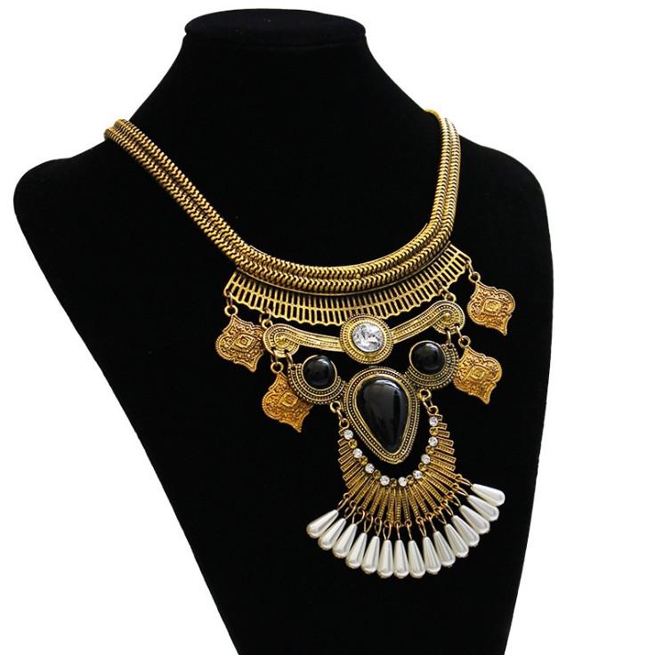 Колье-кулон Клеопатра. Объемное восточное ожерелье