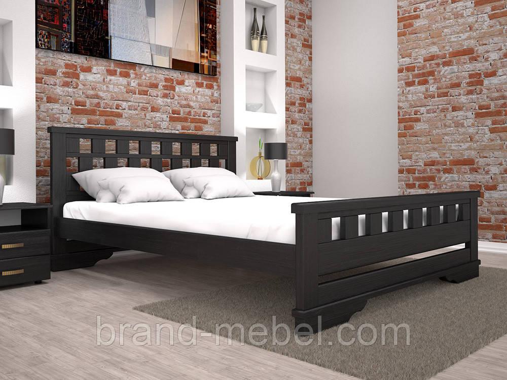 Дерев'яне ліжко двоспальне Атлант 9 / Деревянная кровать двуспальная Атлант 9