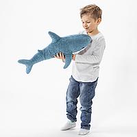 IKEA Mini Blahaj 55cm (504.552.34) Мягкая игрушка, акула новинка. ПЛЮШЕВАЯ игрушка, акула, 55 см