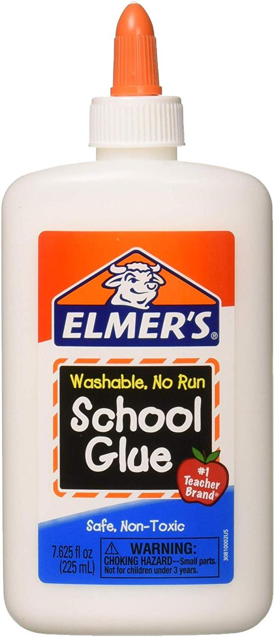 Elmer's Клей Элмерс белый смываемый для слайма, 225мл. Elmers washable glue. Оригинал из США