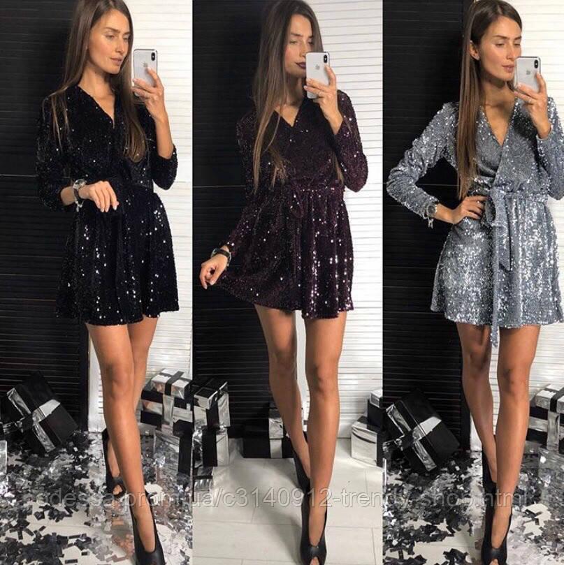 Платье женское вечернее чёрное, серебро, марсала