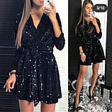 Платье женское вечернее чёрное, серебро, марсала, фото 2