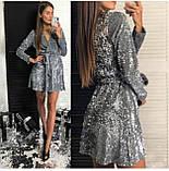 Платье женское вечернее чёрное, серебро, марсала, фото 3
