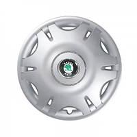 """Колпаки для колес 16"""" c логотипом автомобиля 4 шт (SKS 402) Skoda"""