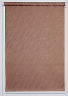 Готовые рулонные шторы 1050*1500 Ткань Вода 1827 Коричневый, фото 1