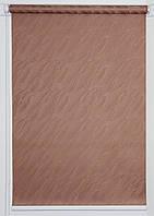 Готовые рулонные шторы 1100*1500 Ткань Вода 1827 Коричневый, фото 1