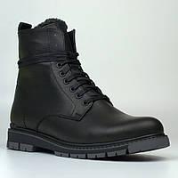 Кожаные зимние мужские ботинки на меху Rosso Avangard Whisper 2 Modern Black черные, фото 1