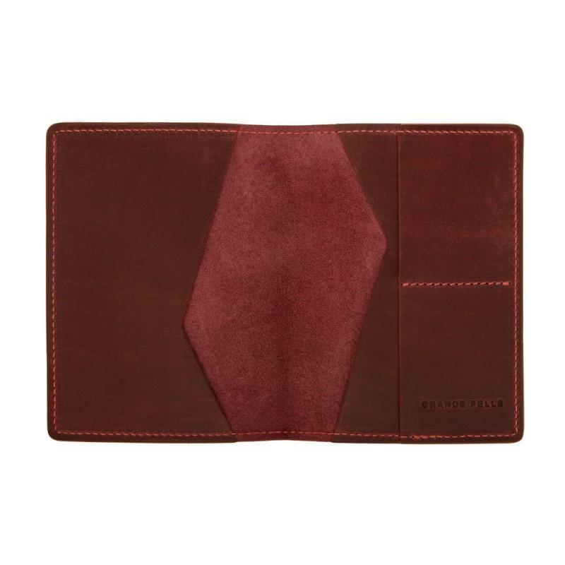 Обложка для паспорта Grande Pelle 204161 бордо