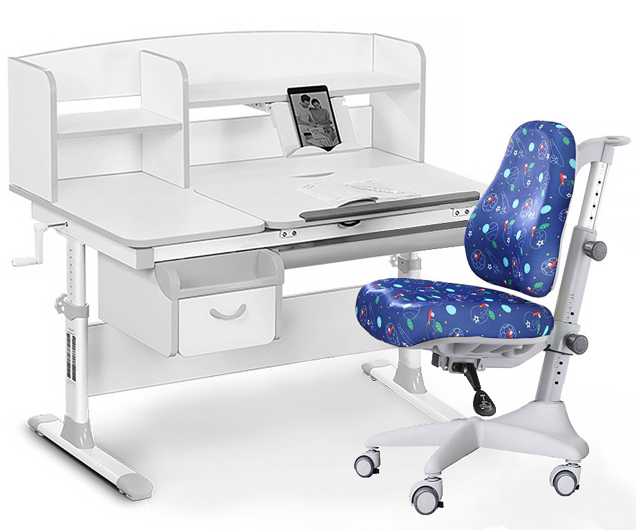 Комплект парта Evo-kids Evo-50 G + кресло Y-528 F