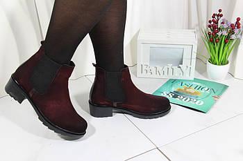 Бордовые модные ботинки Tunkay 8503-bordo