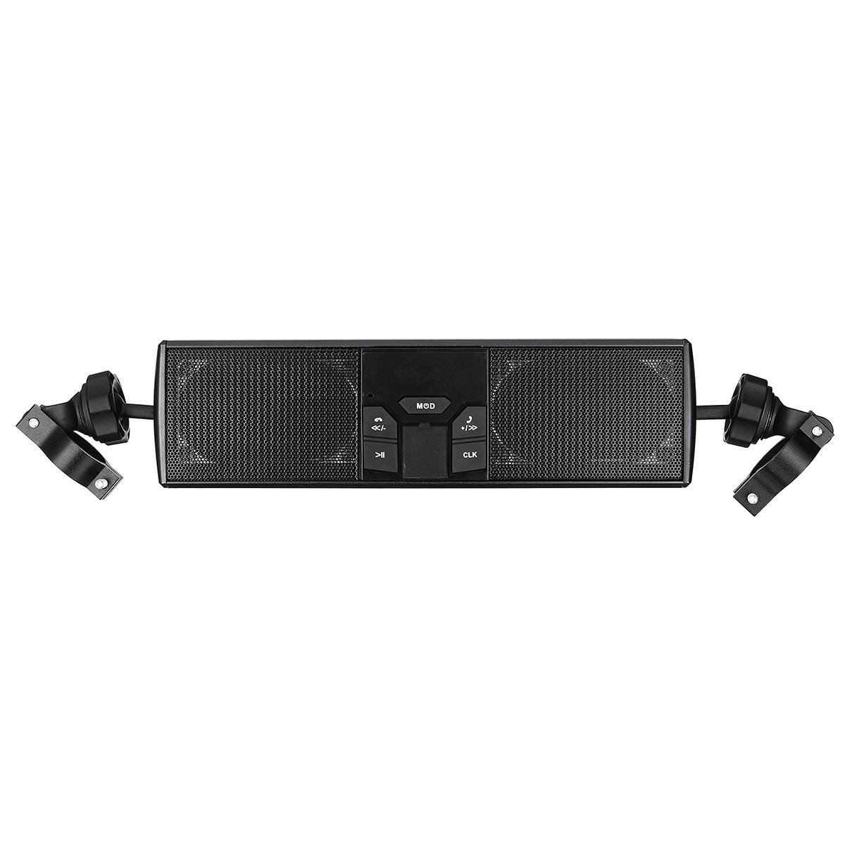 Водонепроницаемый мотоцикл MP3 USB FM Радио Аудио стерео LED Динамик с функцией Bluetooth Электрик Скутер Велосипед Универсальный - 1TopShop