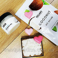 HiLLARY Скраб Coconut Oil Scrub, кокосовое масло Premium Quality Coconut Oil 100 мл и мылко - 131801