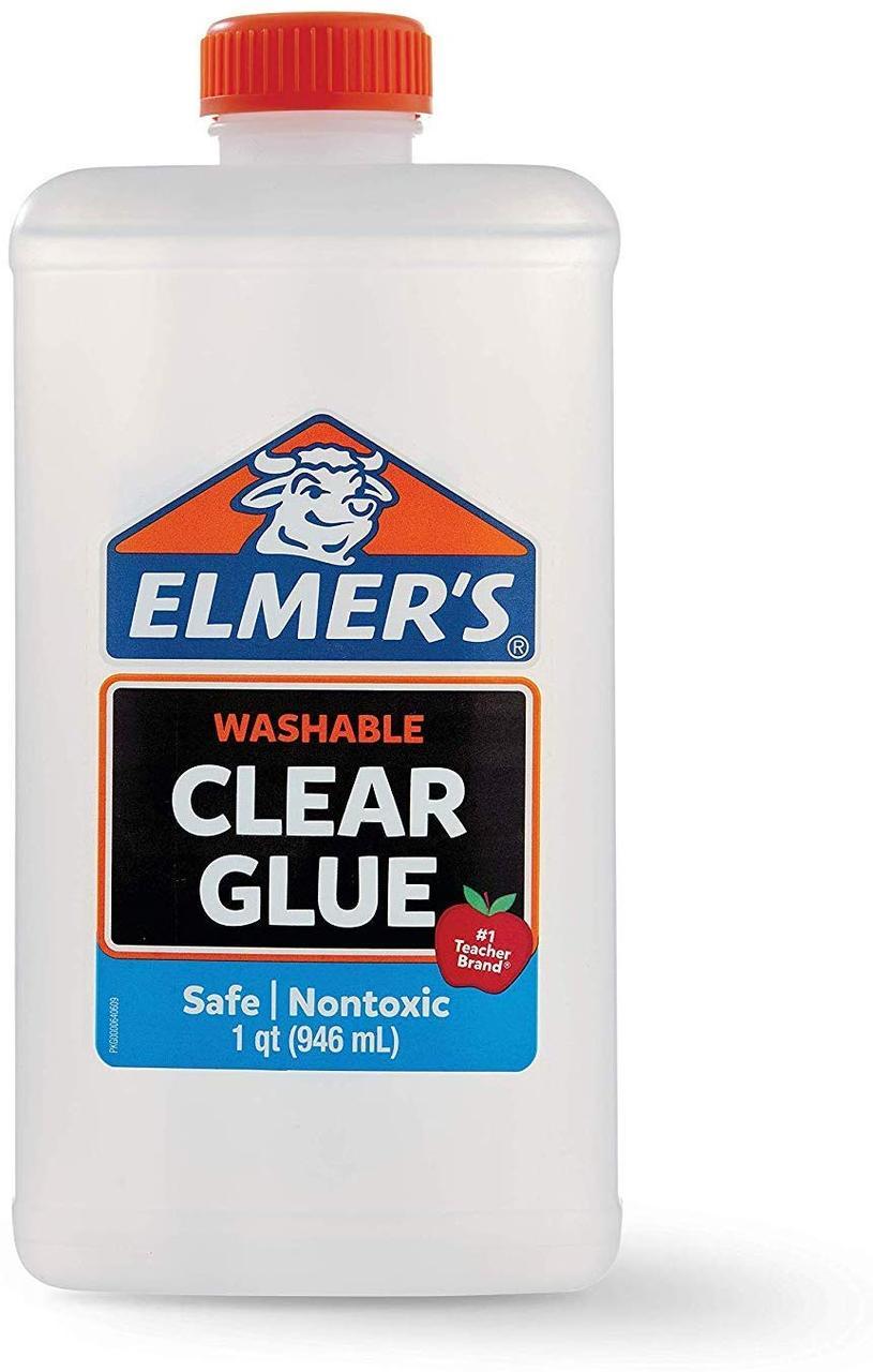Elmer's Клей Элмерс ПРОЗРАЧНЫЙ смываемый для слайма, 946 мл. Elmers washable glue. Оригинал из США
