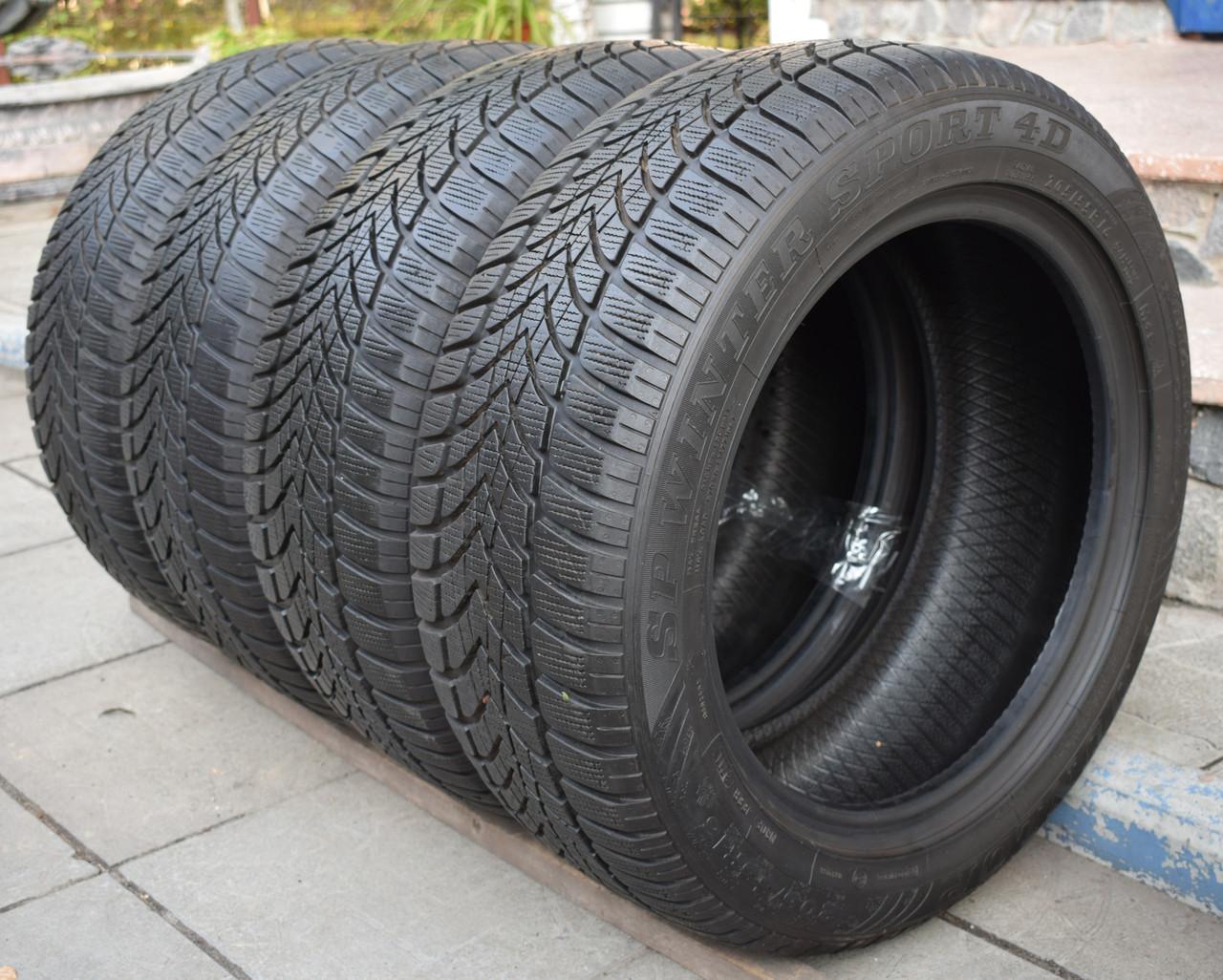 Шины б/у 205/55 R16 Dunlop SP Winter Sport 3D, ЗИМА, 6 мм, комплект