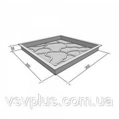 Формы для тротуарной плитки Тучки 300х300х30 мм Вереск 1 шт, фото 2