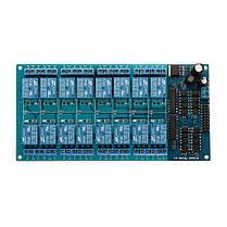 BESTEP 16-канальный 24-вольтовый релейный модуль LM2596 с защитой от оптопары Низкий уровень триггера для Auduino - 1TopShop, фото 3