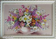 Васильки и ромашки картина маслом цветы