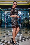 Елегантне коктейльне плаття з мереживом (5 кольорів, р S,M,L,XL), фото 10