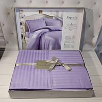 Турецкое однотонное  постельное белье. Лиловый цвет. Евро размер. Турция.