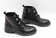 Элегантные кожаные ботиночки Турция ArasShoes 417-siyah, фото 5