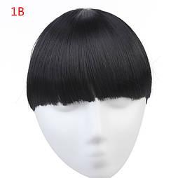 Накладная челка из искусственых волос. Цвет #01 Черный