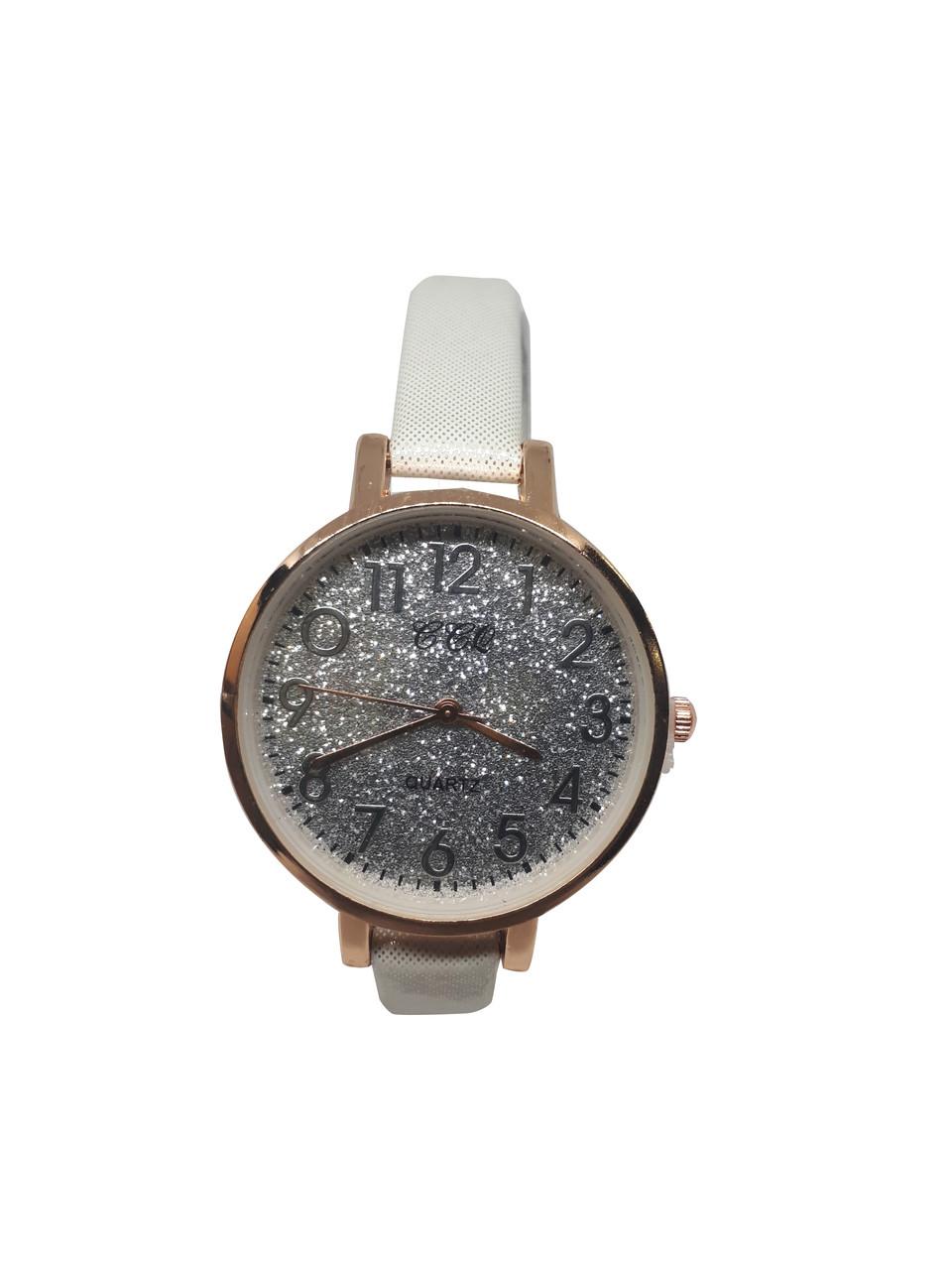 Часы женские кварцевые CCQ Блестки Белый