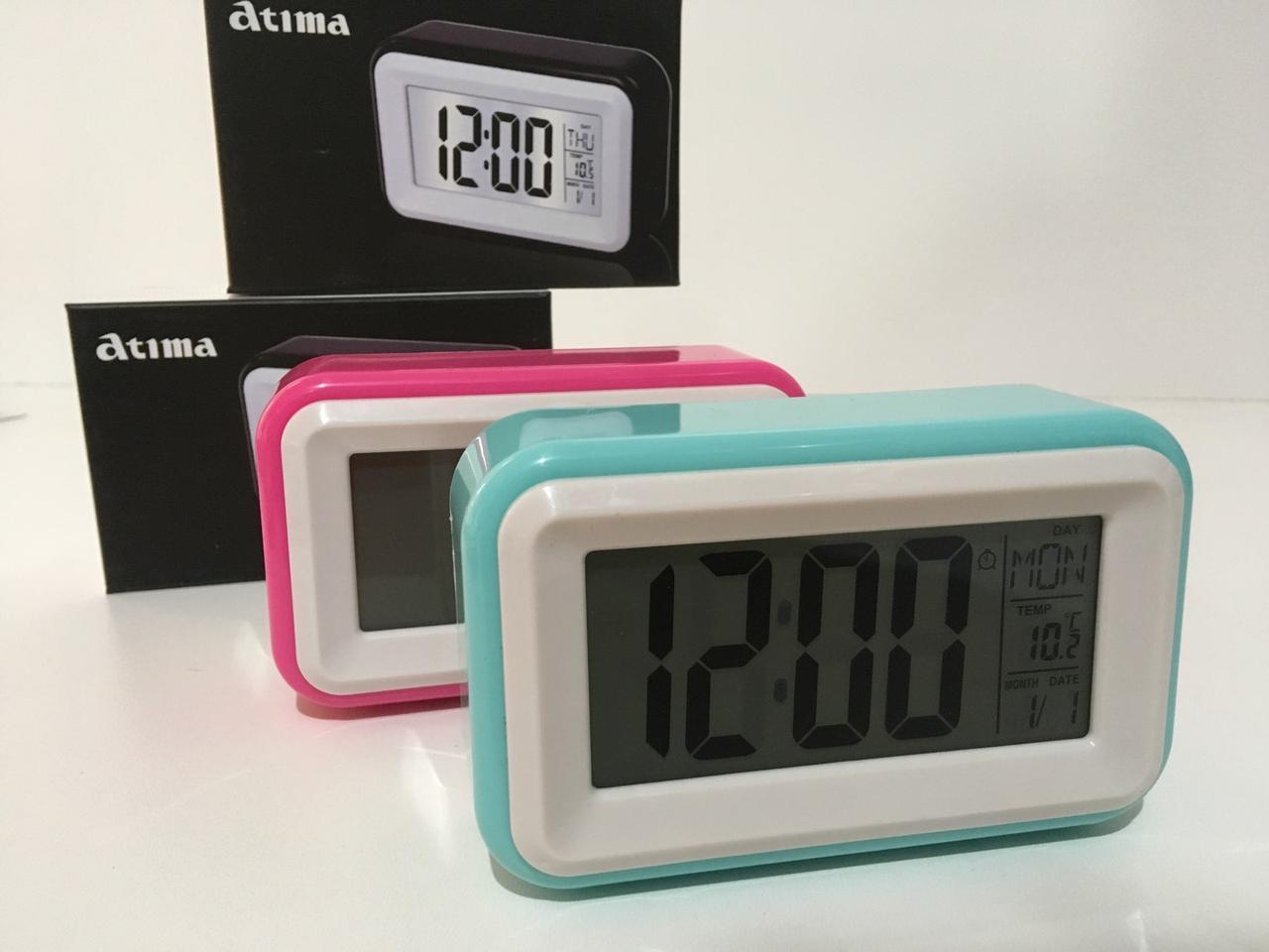 Настольные часы с подсветкой на батарейках AT-608 (60 шт/ящ)