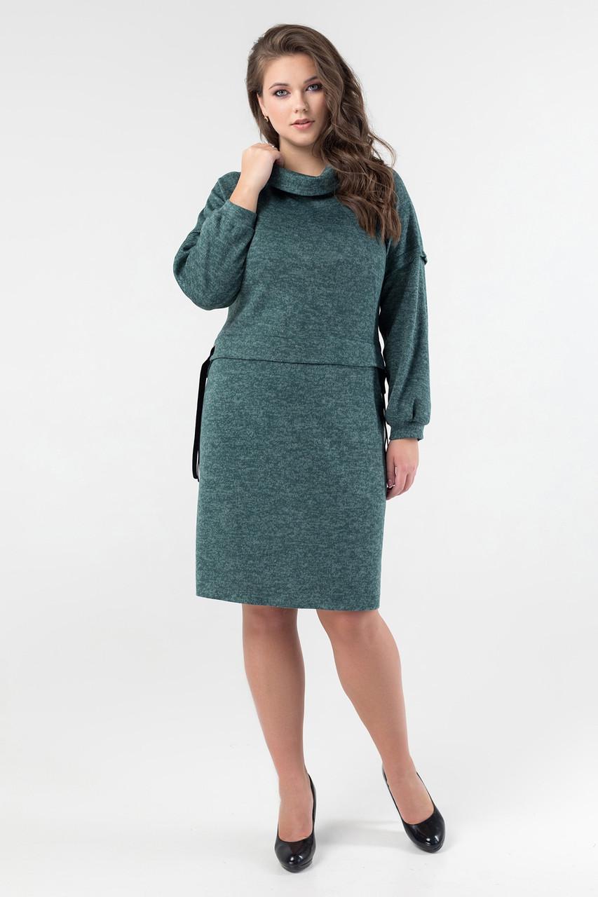 Теплое платье с 50 по 60 размер