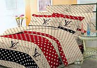 Комплект постельного белья на кнопках Atelier Romana бязь Louis Vuitton полуторный 145х210