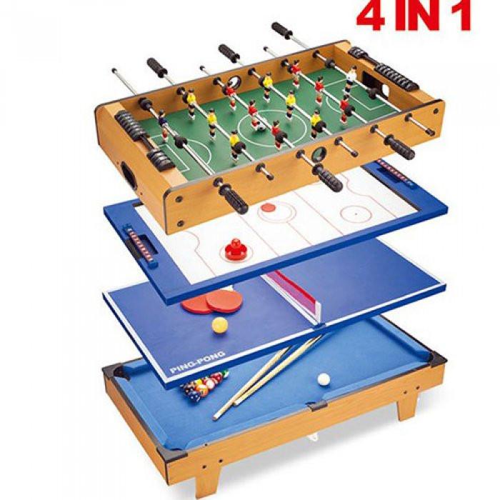 Настольная игра HG207-4 4 в 1, настольный футбол, настольный тенис, настольный хоккей, настольный бильярд