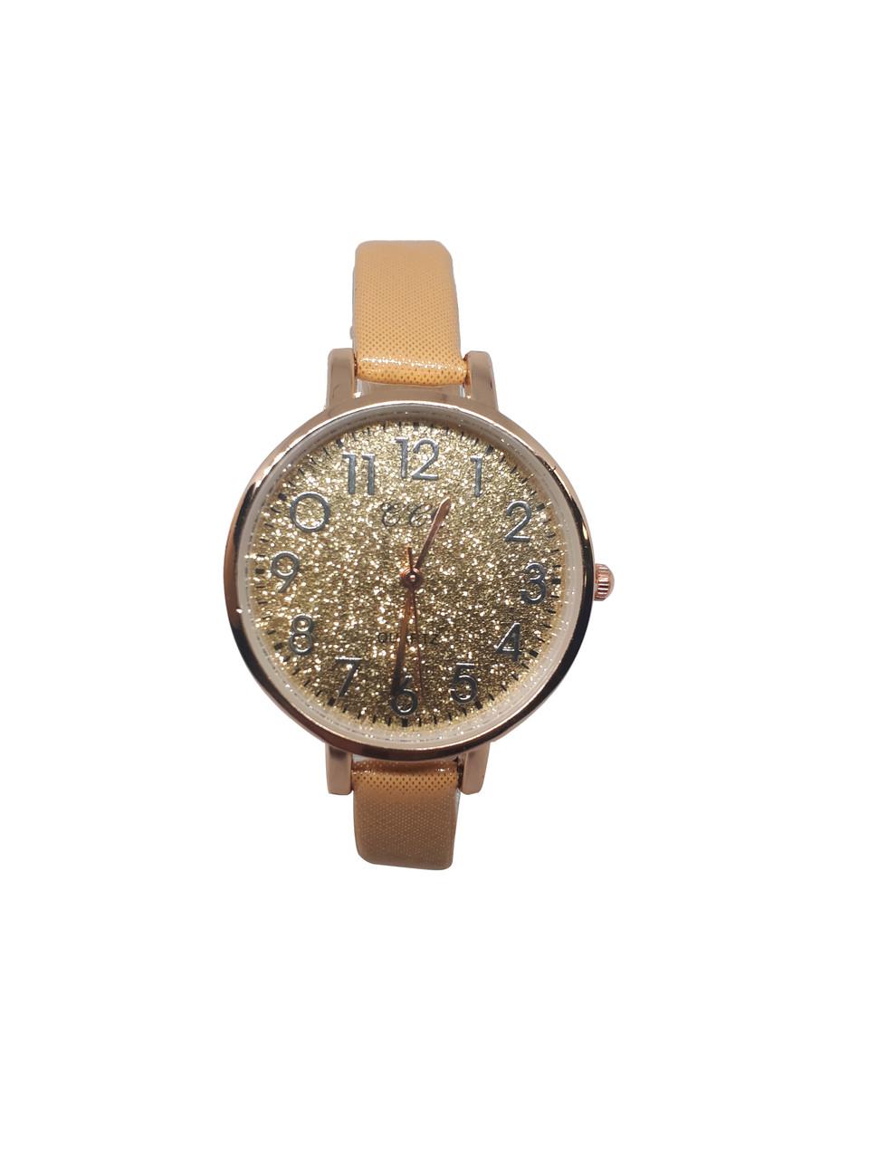 Часы женские кварцевые CCQ Блестки Песочный