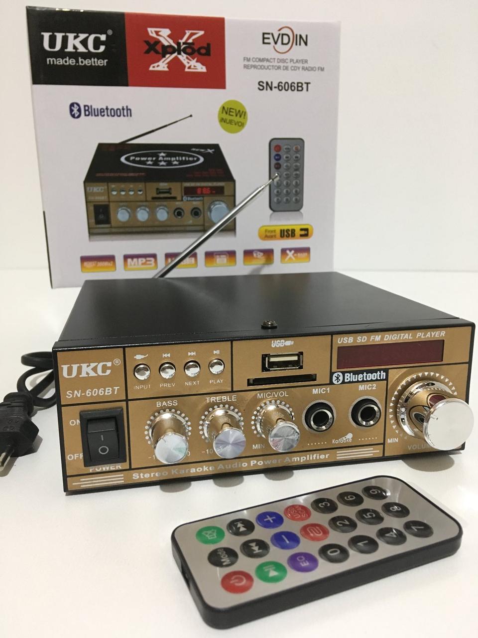 Усилитель AMP 606BT UKC (20 шт/ящ)