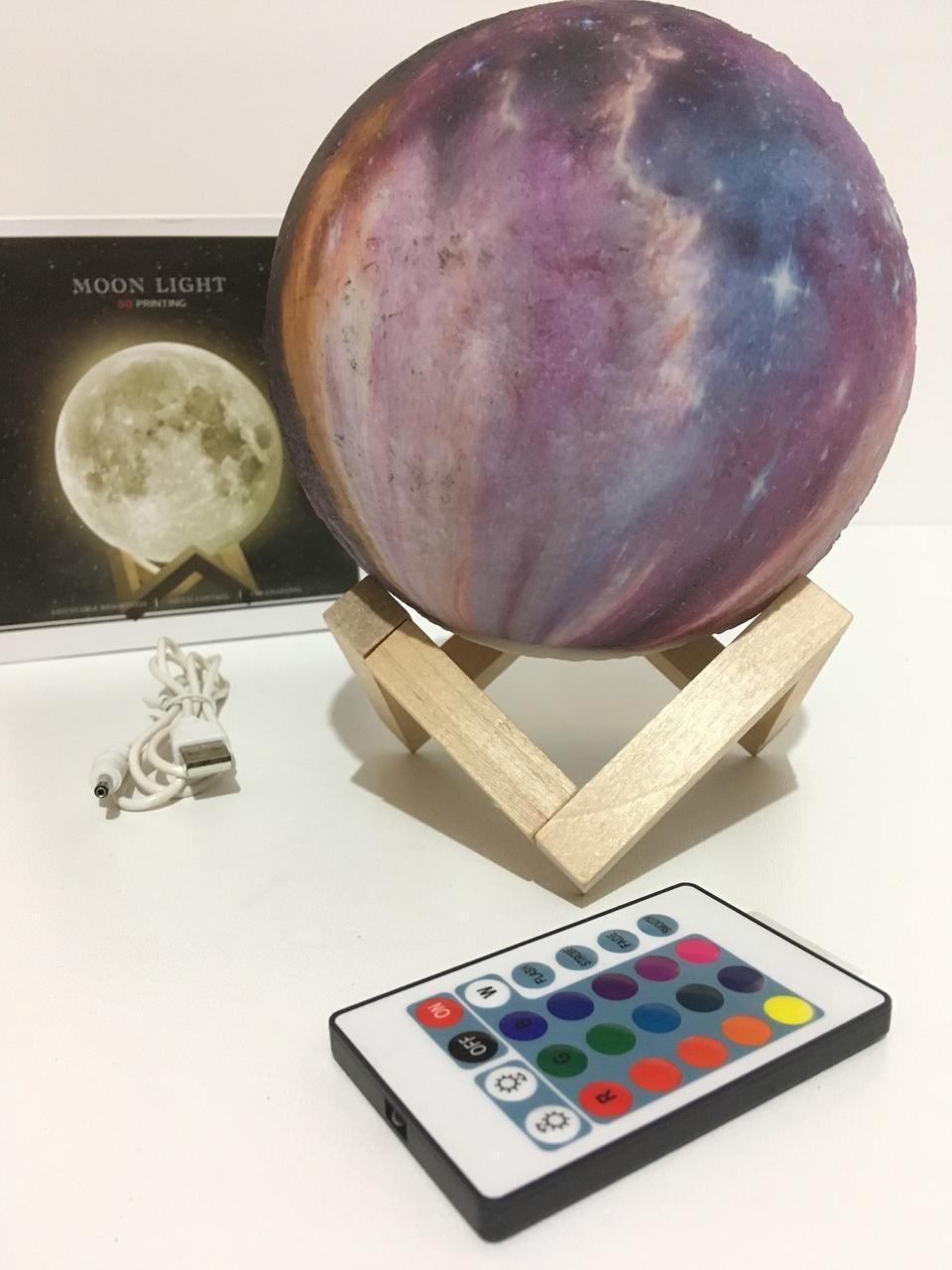 Настольный светильник 3D Moon Lamp акумуляторный (36 шт/ящ)