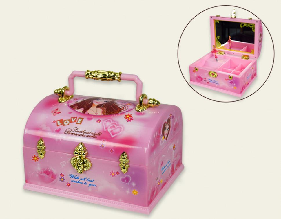 Детская розовая Шкатулка муз MY6045