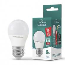 Лампа LED шар 6W E27 яскравий колір Titanum