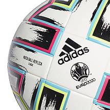 Мяч футбольный Adidas Uniforia League Euro 2020 №5 FH7376 Белый, фото 2