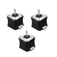 3Pcs HANPOSE 17HS4401-S 40мм Nema 17 степпер Мотор 42 Мотор 42BYGH 1.7A 40N.cm 4-вывод Мотор для 3D принтера с ЧПУ Лазер-1TopShop