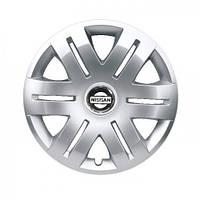 "Колпаки для колес 16"" c логотипом автомобиля 4 шт (SKS 406) Nissan"