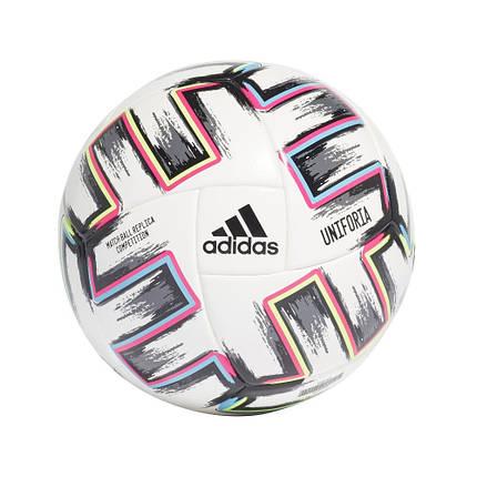 Мяч футбольный Adidas Euro 2020 Competition Ball FJ6733 №5 Белый, фото 2