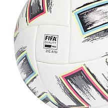 Мяч футбольный Adidas Euro 2020 Competition Ball FJ6733 №5 Белый, фото 3