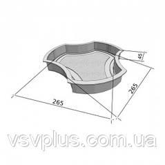 Пластиковые фигурные формы Рокки 290х45 мм Вереск 1 шт, фото 2