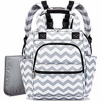 Органайзер - рюкзак для прогулки с ребенком с термобоксом для бутылочки и пеленкой